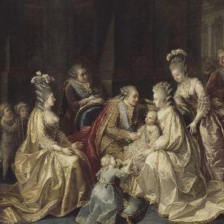 1781년 태어난 왕태자 주변으로 모인 프랑스 왕실 가족들
