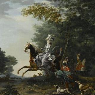 기마 사냥을 하는 마리 앙투아네트