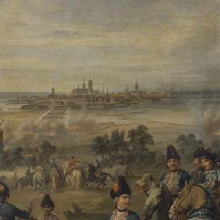 1744년 6월 6일부터 25일의 이프르 마을 점령을 위한 기마 척탄병의 야영
