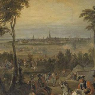 1746년 6월 1일 앙베르의 요새와 마을 점령을 위한 총사들의 야영