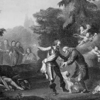 앙리 4세가 주관한 샹젤리제에서의 볼테르 리셉션