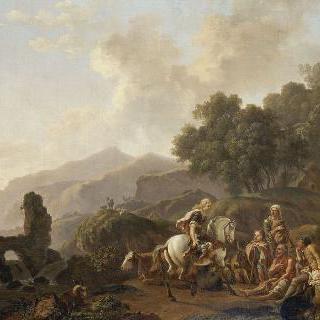 에르미니와 목동들이 있는 풍경
