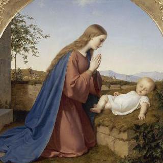 아기 예수를 경배하는 성모