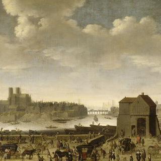 1646년경 투르넬의 둑방과 다리와 시테 섬과 생루이 섬
