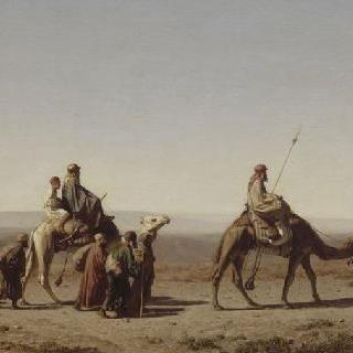 여행 중인 시리아 아랍인들