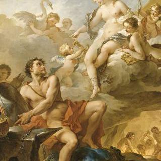 아이네이아스를 위한 무기를 불카누스에게 청하는 비너스