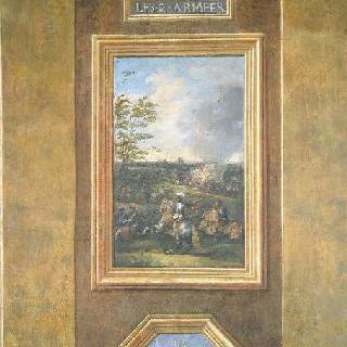 1677년 5월 11일 발랑시엔에 대치하고 있는 두 군대