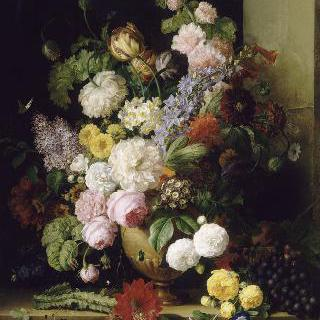 꽃들과 포도들