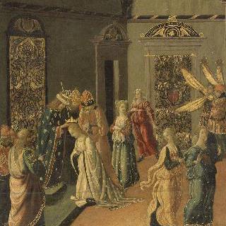 에스더에게 왕관을 씌여주는 아하수에로스