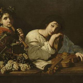 젊은 바이올린 연주자