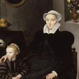 40살의 여인과 아이의 초상