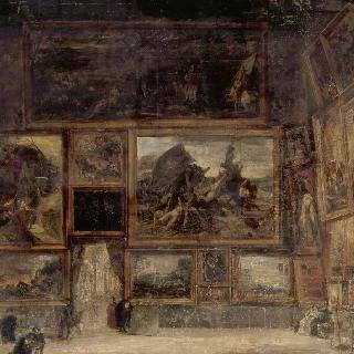 1831년 루브르의 살롱 카레의 전경