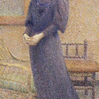 서있는 젊은 여인 : 루이즈 클레르 샤르동, 훗날 이폴리트 프티장 부인