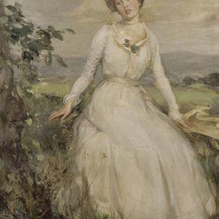 흰색 옷을 입은 젊은 여인의 초상