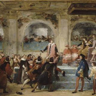 1506년 투르 삼부회에서 국민의 아버지임을 선언한 루이 12세