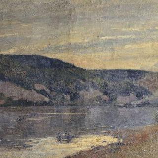 석양의 센 강, 디에프달의 작은 언덕