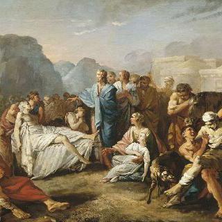 병자들을 고치는 예수 그리스도
