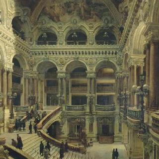 파리 오페라 극장의 계단