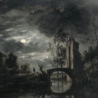 달빛 아래 풍경