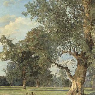 빈의 프라테의 전경 (오른쪽의 나무)