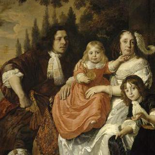 립마케르 가족 : 안토니 립마케르와 부인 수잔나 감메르와 두 아이들