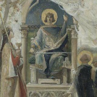 성당과 성 토마스 아퀴나스 사이의 성 루이 (습작)