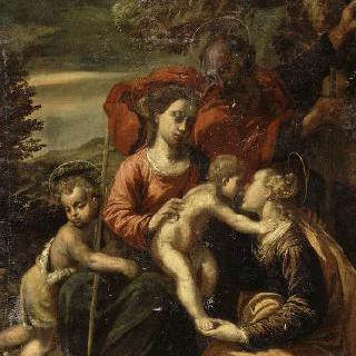 작은 성 요한과 성녀 카트리나와 함께 있는 성 가족