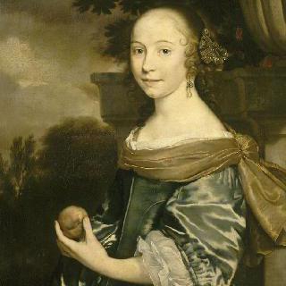 과일을 들고 있는 여인의 초상