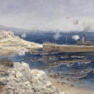갈리폴리에서의 정박