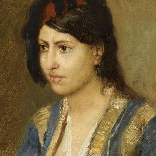 터키식 웃옷을 입은 젊은 여인