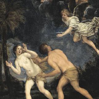 천국에서 추방되는 아담과 이브