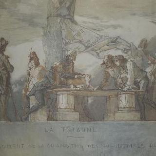 연단, 1792년 지원병 구성의 부분