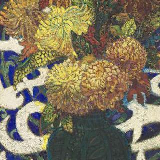 국화 꽃병