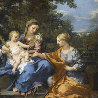 성모, 어린 예수와 성녀 마르틴