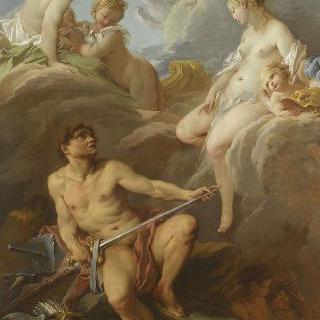 불카누스에게 에네를 위한 무기를 주문하는 비너스