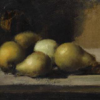 배와 사과가 있는 정물