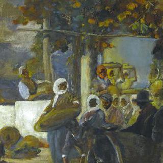 코르시카의 포도 수확