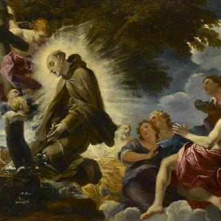 십자가 앞에서 황홀경에 빠진 성 피에르 달칸타라
