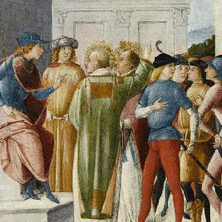 판사 베누스티나우스 앞의 부사제 엑수페라니수스와 마르첼루스