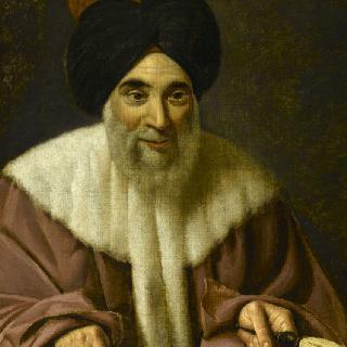 족장 아불 아누아르 알 사다테의 초상, 카이로 디완의 부 지배자  (1817년 - )