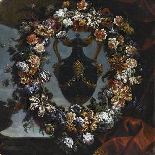 뚜껑이 있는 청금석 꽃병