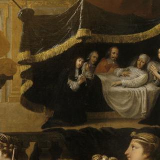 루이 14세의 회복을 위해 바쳐진 봉헌물, 1658년 7월
