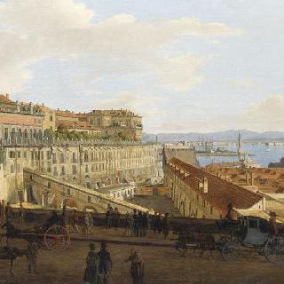 나폴리 왕립 궁전, 병기고 쪽 면