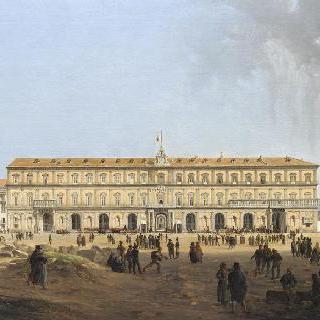 라르로 레알레에서 바라본 나폴리 왕립 궁전