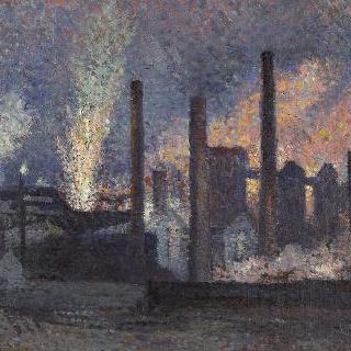 샤를루아 부근의 공장들