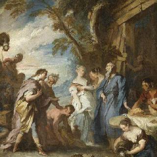 아브라함의 선불을 받는 레베카