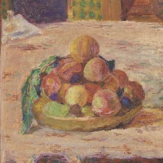 정물 : 접시와 과일