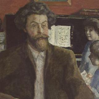 작곡가 클로드 테라스(1867-1923)와 그의 두 아들 장과 샤를