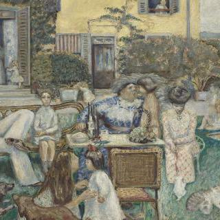 부르주아의 오후 (테라스 가족)