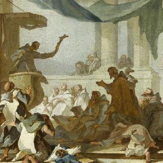 어느 수도자의 선교, 초벌화